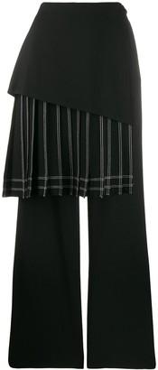 Off-White Striped Skirt Pants
