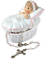 Precious Moments Precious Moments, Baptized In His Name Resin Box With Rosary, For Girl, 153406