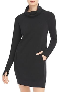 Andrew Marc Funnel Neck Sweatshirt Dress