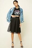 Forever 21 FOREVER 21+ Mesh Pleated Midi Skirt