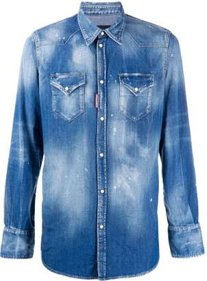 DSQUARED2 stonewash denim shirt
