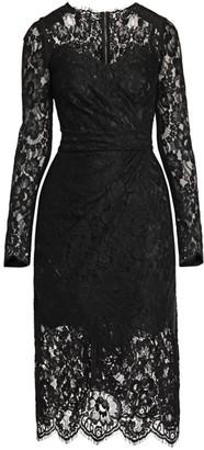 Dolce & Gabbana Lace Midi Sheath Dress
