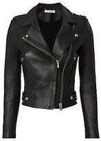 IRO Dylan Leather Cropped Moto Jacket