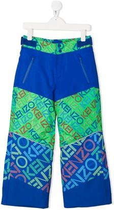 Kenzo logo print ski trousers