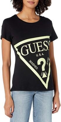 GUESS Women's Active Short Sleeve Oversized Logo T-Shirt