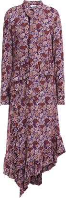 Hofmann Copenhagen Celia Asymmetric Ruched Jacquard Midi Dress