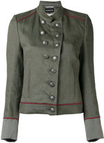 Ann Demeulemeester military stand-up collar jacket - women - Cotton/Linen/Flax/Rayon - 36