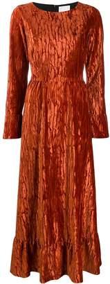 Black Coral Rori ruffled hem dress
