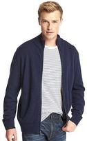 Gap Merino wool blend mockneck zip sweater