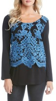 Karen Kane Women's Lace Overlay Jersey Top