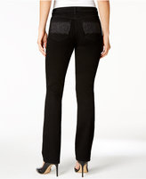 Charter Club Petite Lexington Embellished Straight-Leg Jeans, Only at Macy's