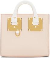 Sophie Hulme SSENSE Exclusive Pink & White Mini Albion Box Tote