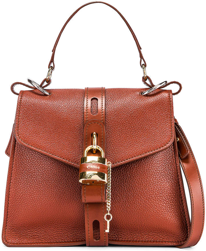 Chloé Medium Aby Day Bag in Sepia Brown | FWRD