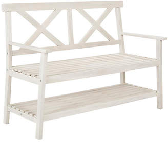 One Kings Lane Mayer Bench - White