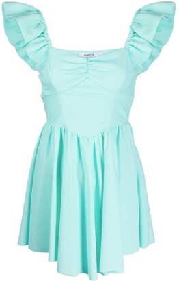 Amen Ruffle Trim Mini Dress
