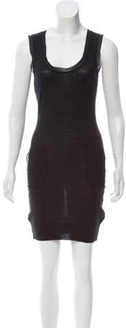 Dolce & Gabbana Sleeveless Silk-Trimmed Dress