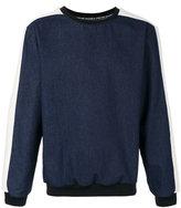 Andrea Crews denim sweatshirt