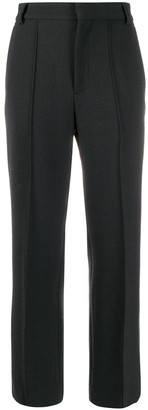 Plan C Straight-Leg Mid-Rise Tailored Trousers