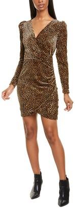 Nicole Miller Leopard Velvet Sheath Dress