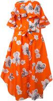 MSGM floral print strapless dress - women - Cotton - 40