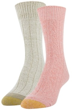 Gold Toe Women's 2-Pk. Soft Cable Boot Socks