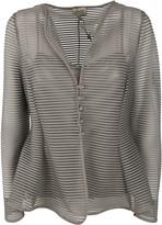 Armani Collezioni Sheer Striped Jacket