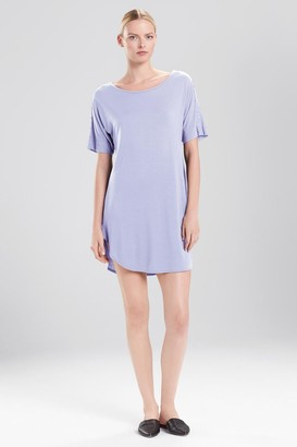 Natori Feathers Essentials Sleepshirt With Lace