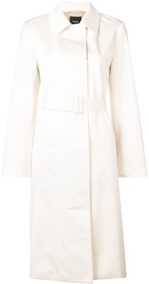 Theory Belted Single-Breasted Coat