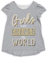 Nannette Little Girl's Girls Can Change the World Tee