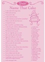 Darice 1405-044, Bridal Name That Cake Game Sheets, 50-Piece