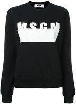 MSGM logo print sweatshirt - women - Cotton - M