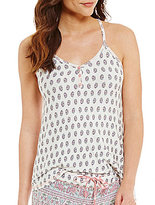 PJ Salvage Floral Paisley Lace-Racerback Jersey Lounge Tank