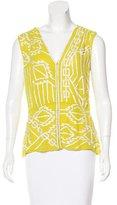 Nanette Lepore Sequin-Embellished Silk Vest