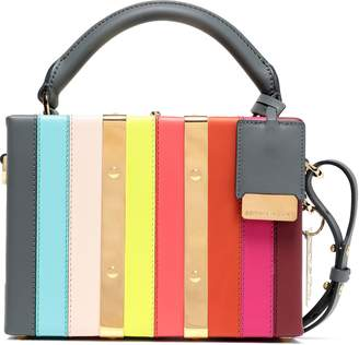 Sophie Hulme Albany Mini Striped Leather Shoulder Bag