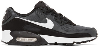 Nike Black and Grey Air Max 90 Sneakers