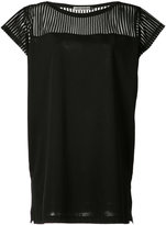 Issey Miyake sheer panel top - women - Cotton/Polyester - 2