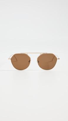 Illesteva Nicosia Gold Sunglasses With Brown Lens