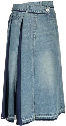 Sacai Denim Midi Skirt