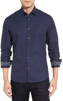 Stone Rose Men's Embroided Fil Coupe Sport Shirt