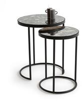 La Redoute La LIPSTICK Glass & Metal Nested End Tables (Set of 2)