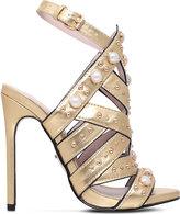Carvela Goldie metallic sandals