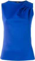 Armani Jeans gathered detail tank top - women - Polyester/Spandex/Elastane/Viscose - 38