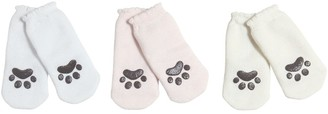Dolce & Gabbana Set Of 3 Anti-slip Cat Paw Cotton Socks