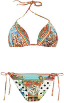 Dolce & Gabbana Reversible printed triangle bikini