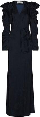 Silvia Tcherassi Greta floral-jacquard wrap dress