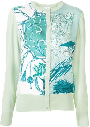 Salvatore Ferragamo Floral Print Knitted Cardigan