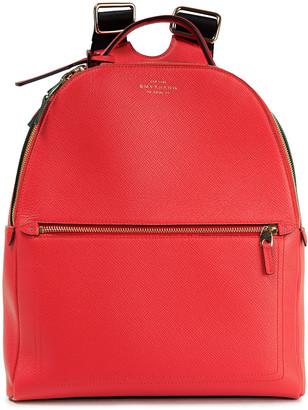 Smythson Panama Textured-leather Backpack