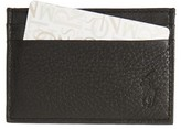 Polo Ralph Lauren Men's Leather Money Clip Card Case - Black