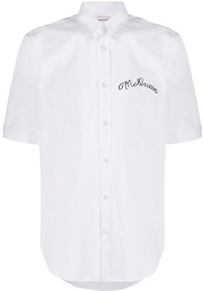 Alexander McQueen Embroidered Logo Short-Sleeved Shirt