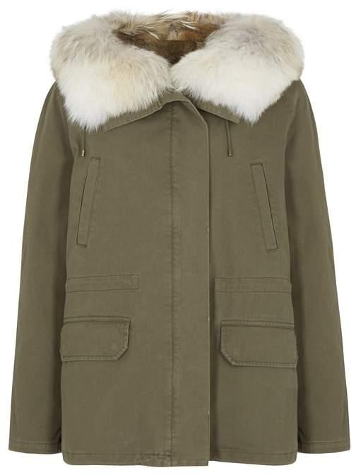 Yves Salomon Fur-trimmed Cotton Parka